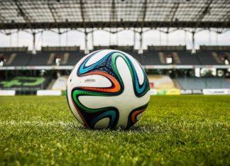 voetbal bal veld