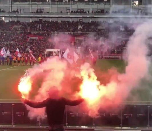 Antwerp FC 2017-2018 pyro Bosuil