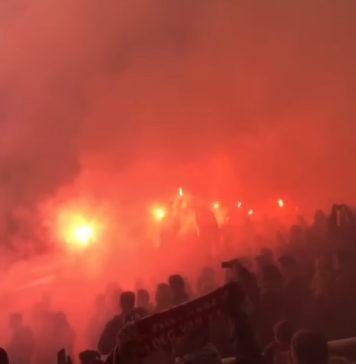 Antwerp FC Fans Pyro Bosuil