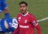 Faris Haroun Royal Antwerp FC KRC Genk Bryan Heynen gele kaart