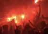 Antwerp fans op Waasland Beveren
